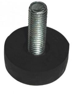 Shock absorbing levelling foot screw M10