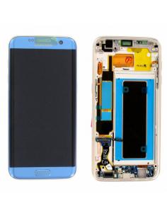 SAMSUNG GALAXY S7 EDGE G935F LCD Display Module, Blue, GH97-18533G