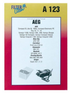 Vacuum Cleaner Bags AEG A123 5 pcs +1 Filter
