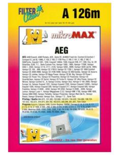 Vacuum cleaner bag AEG A126M 4 pcs.