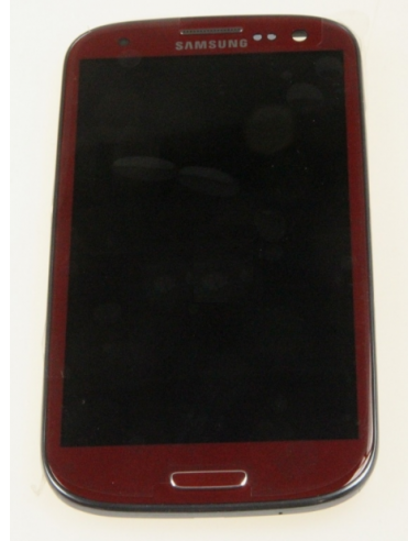 SAMSUNG GALAXY S3 / S III I9300 LCD DISPLAY + TOUCHSCREEN + FRAME, RED,  GH97-13630C