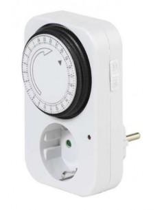 Manual Timer T24, 24 hours, Mechanical, White, 230V 16A 3600W
