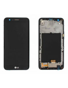 LG K10 M250 2017 DUAL SIM LCD Display Module + Touch Screen Display + Frame, Gold, ACQ89849301