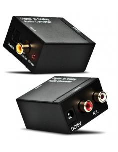 Digitālās skaņas pārveidotājs (Toslink) uz analogo signālu RCA ar barošanas bloku, OC69130