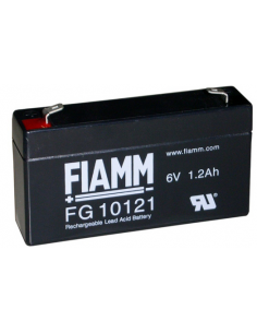 FIAMM 6V 1.2Ah Lead Acid Battery, FG10121