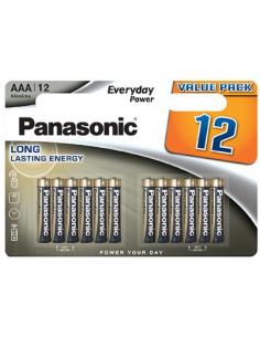 PANASONIC AAA LR03 Alkaline Battery Set 1.5V 12 pcs, LR03EPS/12BW