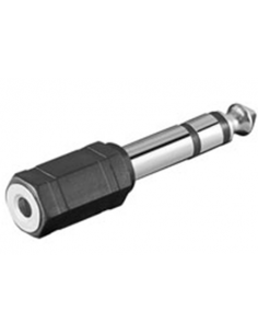 Stereo Phone Adapter 3.5mm Female Jack to 6.35mm Male Jack