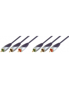RGB Component video cable 3x RCA male - 3x RCA male 3m