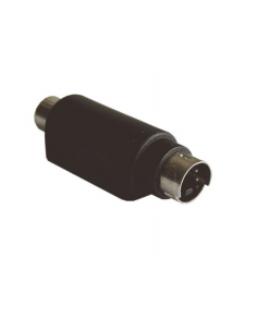 Adapter Mini DIN4 (SVHS) plug to RCA socket