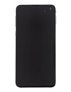 SAMSUNG GALAXY S10E G970F LCD Displejs ar skārienekrānu, balts, GH82-18852B