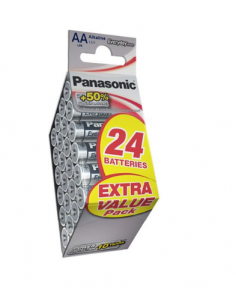 PANASONIC Alkaline Battery Mega Pack AA LR06 24 pcs, LR6EPS/24BP