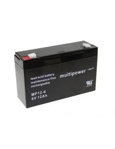 MULTIPOWER 6V 12AH Lead Acid Battery MP12-6