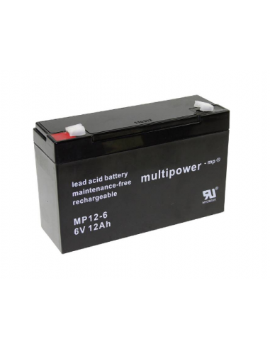 MULTIPOWER 6V 12AH Lead Acid Battery MP12-6