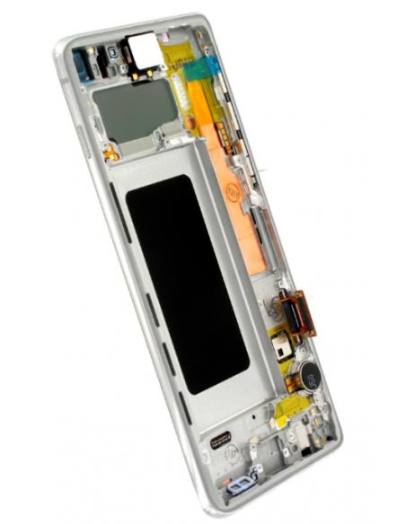 SAMSUNG GALAXY S10 G973 LCD Display Module, Prism White, GH82-18850B