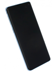 SAMSUNG GALAXY S10 G973 LCD экран с тачскрином и стеклом, синий, GH82-18850C