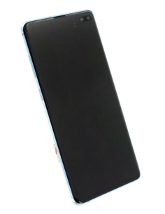 SAMSUNG GALAXY S10+ G975 LCD displejs ar skārienekrānu, zils, GH82-18849C