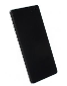 SAMSUNG GALAXY S10+ G975 LCD displejs ar skārienekrānu, balts, GH82-18849B