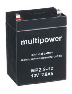 Lead Acid Battery 12V 2.9Ah MULTIPOWER MP2.9-12