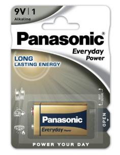 Батарея PANASONIC Everyday Alkaline 9V 6LR61, 6LR61EPS/1BP