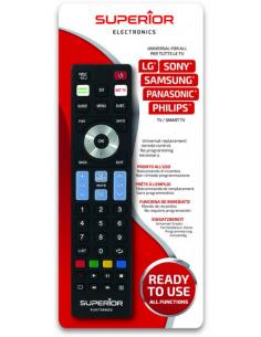 TV Remote Control READY 5 For LG, SONY, SAMSUNG, PANASONIC, PHILIPS, SUPERIOR SUPTRB019