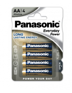 PANASONIC AA LR06 Alkaline Battery Pack 4 pcs 1.5V, LR6EPS/4BP