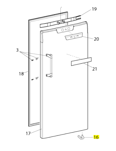 HOTPOINT ARISTON INDESIT Fridge Freezer Door Hinge Pin Stop Bush Left Hand Side