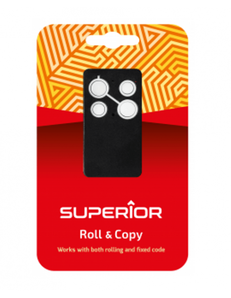 Universal Gate Remote Control SUPERIOR Roll & Copy, 4 keys, 433.92 MHz