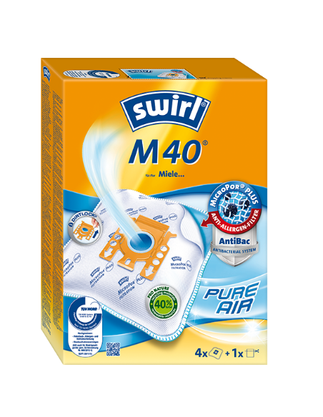 Vacuum Cleaner Dust Bags 4 pcs MIELE M40, SWIRL