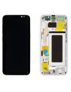 SAMSUNG GALAXY S8 G950F LCD displejs ar skārienekrānu, sudraba, GH97-20457B