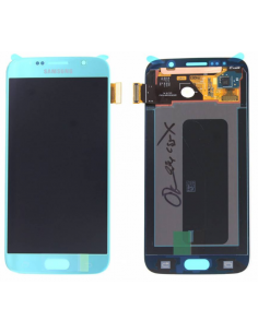 SAMSUNG GALAXY S6 G920F LCD Display Module, Blue, GH97-17260D