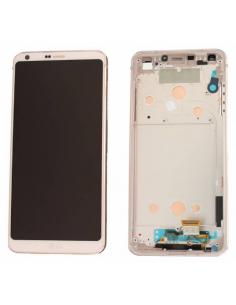 LG G6 H870 LCD Display Module + Frame, White, ACQ90249801