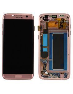 SAMSUNG GALAXY S7 EDGE G935F LCD Display Module, Pink Gold, GH97-18533E